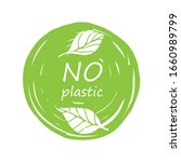 plastic free product sign for... | Shutterstock .eps vector #1660989799