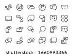 simple set of message line... | Shutterstock .eps vector #1660993366