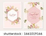 botanical card template.... | Shutterstock .eps vector #1661019166