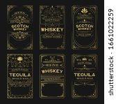 big set of scotch whiskey ... | Shutterstock .eps vector #1661022259
