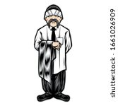 male chicano gangster character ... | Shutterstock .eps vector #1661026909