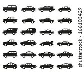 car icons set | Shutterstock .eps vector #166103429