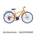 road bicycle  ecological sport...   Shutterstock .eps vector #1661043460