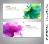 design banner with watercolor...   Shutterstock .eps vector #1661058733