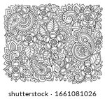 outline square floral pattern...   Shutterstock .eps vector #1661081026