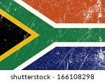 vintage south african flag | Shutterstock .eps vector #166108298