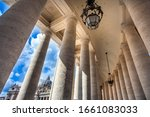 View through the colonnades at St. Peter