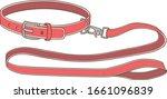 belt collar and leash for dog2 | Shutterstock .eps vector #1661096839