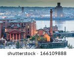 aerial view of albert dock and...