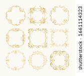 set of calligraphic golden... | Shutterstock .eps vector #1661114323