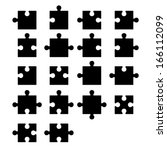 jigsaw puzzle blank parts... | Shutterstock .eps vector #166112099