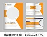 bi fold business brochure... | Shutterstock .eps vector #1661126470