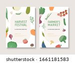 harvest festival or farmers... | Shutterstock .eps vector #1661181583