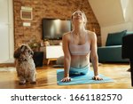 Smiling Athletic Woman In Cobr...