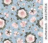 Seamless Pattern Of Delicate...