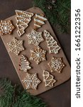 Decorated Gingerbead Cookies On ...