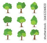 green tree  a variety of forms... | Shutterstock .eps vector #1661226823