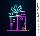gift box in nolan style icon....