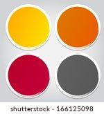 infographic business template ...   Shutterstock . vector #166125098