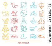 set of baby toy line icons.... | Shutterstock .eps vector #1661261473