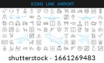 airplane vector icons. airport...   Shutterstock . vector #1661269483