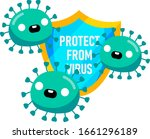 protect from virus. covid 19... | Shutterstock .eps vector #1661296189
