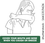 cover your mouth and nose with... | Shutterstock .eps vector #1661315626