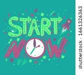 motivational hand drawn vector... | Shutterstock .eps vector #1661326363