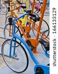 bicycles together | Shutterstock . vector #166133129