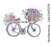 Bicycle With A Flower Basket I...