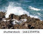 Violent Ocean Water Crashes...