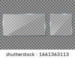 glass frame on transparent... | Shutterstock .eps vector #1661363113