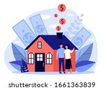 people buying property with... | Shutterstock .eps vector #1661363839