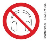 no headphones icon. no... | Shutterstock .eps vector #1661375056