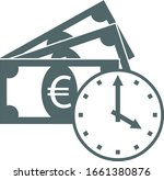 time is money icon. vector... | Shutterstock .eps vector #1661380876