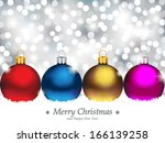christmas ornaments in front of ... | Shutterstock .eps vector #166139258