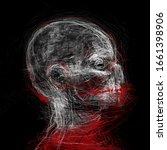 abstract portrait. sketch of... | Shutterstock . vector #1661398906