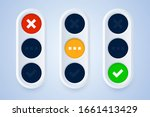 traffic light signs in 3d style.... | Shutterstock .eps vector #1661413429