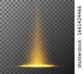 festive flare tail. rays  stars ... | Shutterstock .eps vector #1661424466