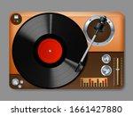 realistic detailed 3d vintage... | Shutterstock .eps vector #1661427880