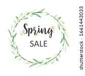 spring sale banner. floral... | Shutterstock . vector #1661443033