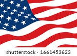 the american flag waving in the ... | Shutterstock .eps vector #1661453623
