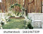 Outdoor Wedding Ceremony. A...