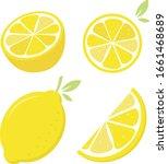fresh lemons  4 vies included. | Shutterstock .eps vector #1661468689