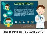 doctor explain poster  wear...   Shutterstock .eps vector #1661468896