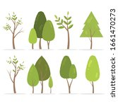 collection of trees...   Shutterstock .eps vector #1661470273