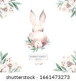 Watercolor Happy Easter Set...
