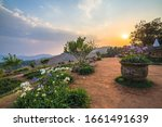 landscape of mon jam  famous... | Shutterstock . vector #1661491639