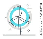 wind mill related color line... | Shutterstock .eps vector #1661504980