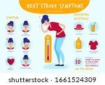 heat stroke. summer sunstrokes... | Shutterstock .eps vector #1661524309